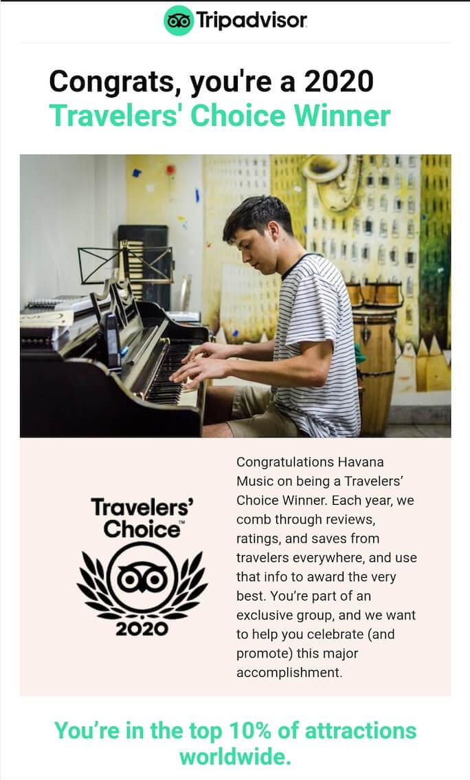 "HMS becomes ""Travelers choice winner 2020"" in Tripadvisor"
